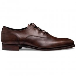 Fulham Ghillie Lace Oxford In Bronzed Espresso Calf Leather