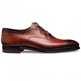 Fulham Ghillie Lace Oxford In Dark Leaf Shadow Calf Leather