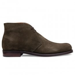 Garforth EF Chukka Boot in Dark Sage (Khaki) Calf Suede