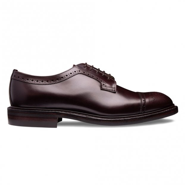 Cheaney George IV R Capped Derby in Burgundy Coaching Calf
