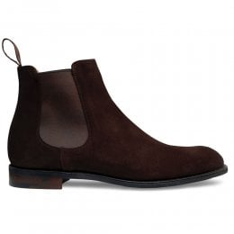 Godfrey D Chelsea Boot in Bitter Chocolate Suede
