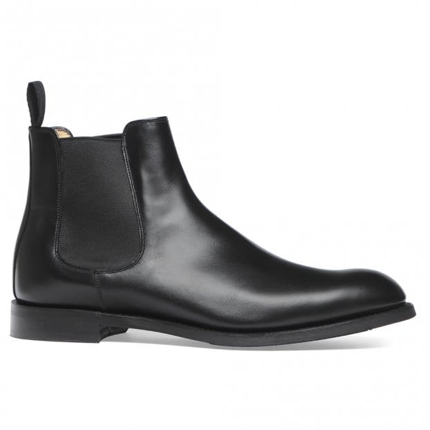 Cheaney Godfrey D Chelsea Boot in Black Calf Leather