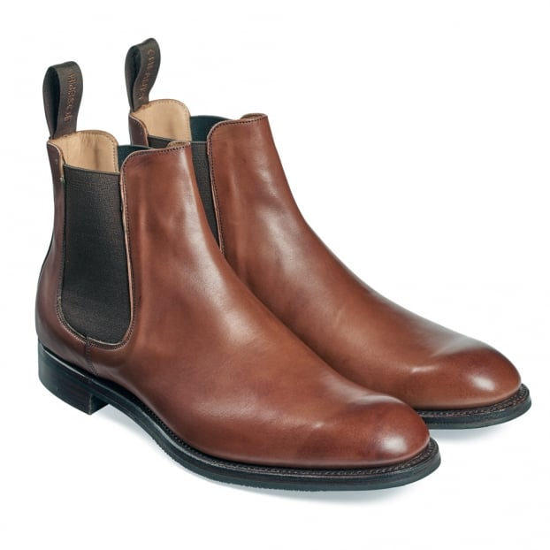 Cheaney Godfrey D Chelsea Boot in Burnished Conker Calf