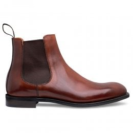 Godfrey D Chelsea Boot in Dark Leaf Calf Leather