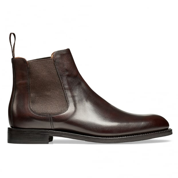 Cheaney Godfrey D Chelsea Boot in Mocha Calf Leather