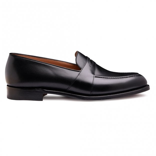 Cheaney Gracechurch D Penny Loafer in Black Calf Leather