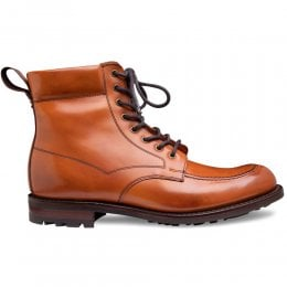 Grassington B Derby Boot in Burnished Chestnut Calf Leather