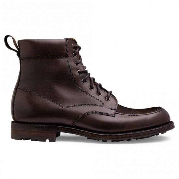 Cheaney Grassington B Derby Boot in Burnished Mocha Calf Leather