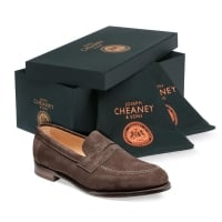 6b9775ebb4c Cheaney Hadley Penny Loafer in Black Calf Leather
