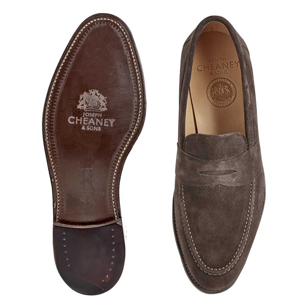 85a6e4233e5 Hadley Penny Loafer in Brown Suede