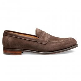 Hadley Penny Loafer in Brown Suede