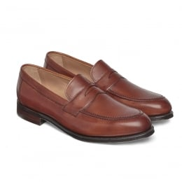 Hadley Penny Loafer in Burnished Dark Leaf Calf Leather