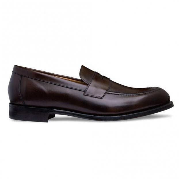 Cheaney Hadley Penny Loafer in Mocha Calf Leather