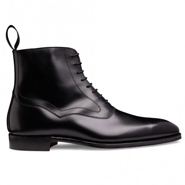 Cheaney Hanover Balmoral Boot in Black Calf Leather