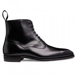 Hanover Balmoral Boot in Black Calf Leather