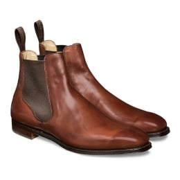 Harlestone Chelsea Boot in Burnished Dark Leaf Calf Leather