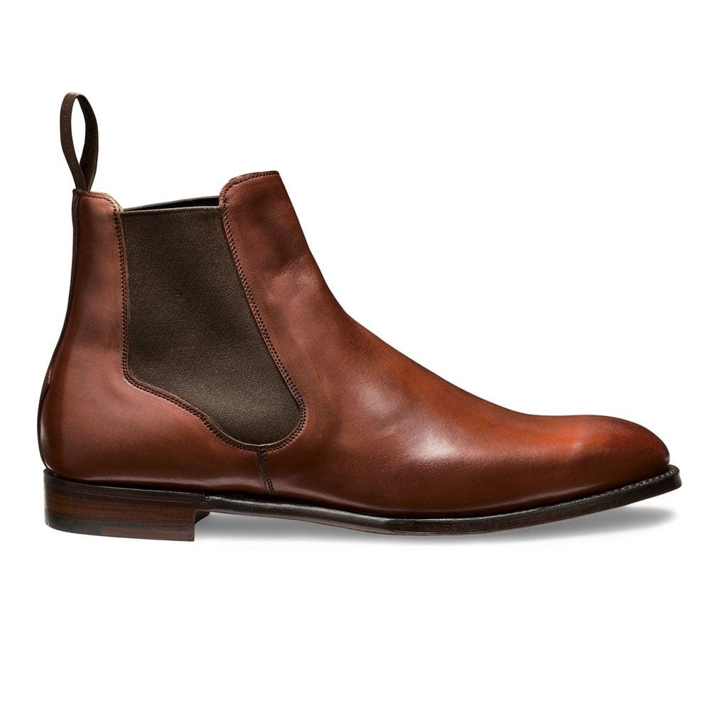 f90e9bf1d80 Harlestone Chelsea Boot in Burnished Dark Leaf Calf Leather