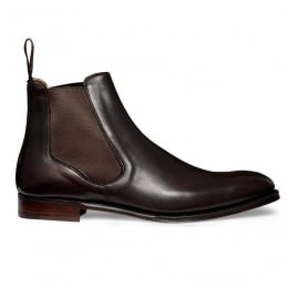 Harlestone Chelsea Boot in Burnished Mocha Calf Leather
