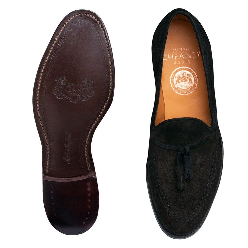 Black Suede Tassel Loafer