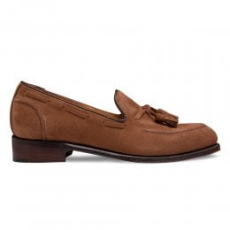 Harriette Tassel Loafer in Fox Suede