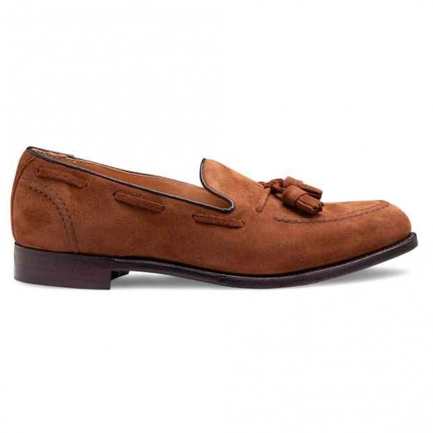 Cheaney Harry II Tassel Loafer in Fox Suede