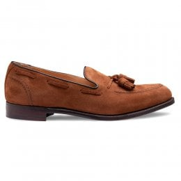 Harry II Tassel Loafer in Fox Suede