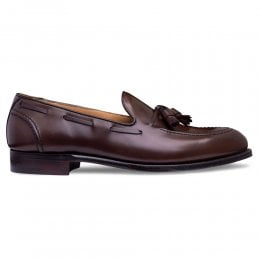 Harry II Tassel Loafer in Mocha Calf Leather