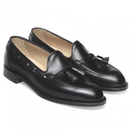 Harry Tassel Loafer in Black Calf Leather