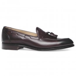 Harry Tassel Loafer in Burgundy Calf Leather