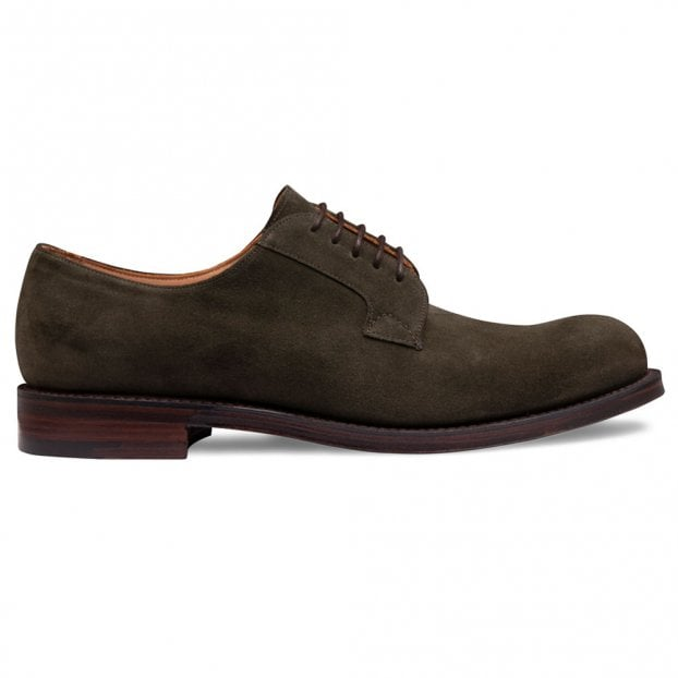 Cheaney Horsforth EF Derby in Dark Sage (Khaki) Calf Suede