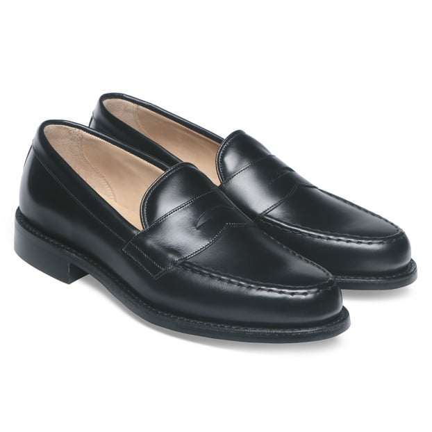 Cheaney Howard R Loafer in Black Calf Leather