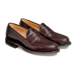 Howard R Penny Loafer in Burgundy Coaching Calf Leather