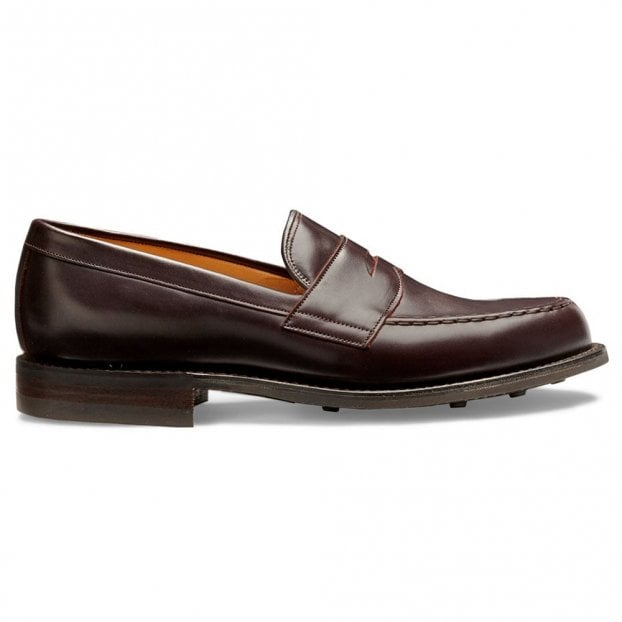 Cheaney Howard R Penny Loafer in Burgundy Coaching Calf Leather