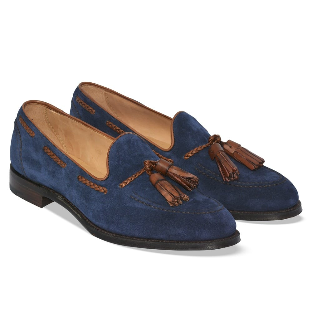 Ladies Navy Blue Loafer Shoes