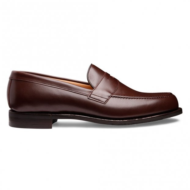 Cheaney Hudson D Penny Loafer in Brown Calf Leather