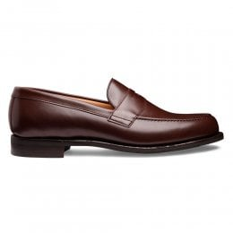 Hudson D Penny Loafer in Brown Calf Leather