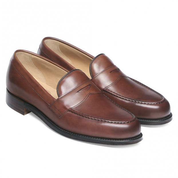 Cheaney Hudson Penny Loafer in Conker Calf Leather