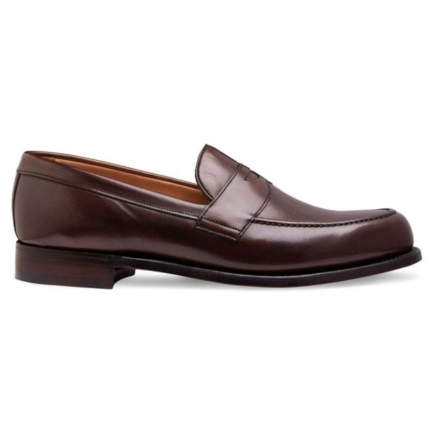 Cheaney Hudson Penny Loafer in Mocha Calf Leather
