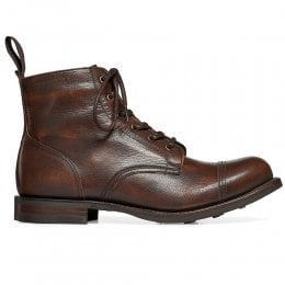 Hurricane R Capped Derby Boot in Copper Goat Skin