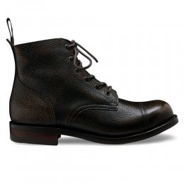 Hurricane R Military Style Ankle Boot in Bronze Rub Off Grain Leather