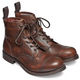 Hurricane R Military Style Ankle Boot in Copper Goat Skin