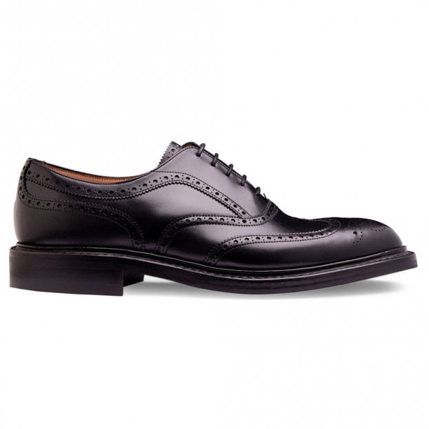 Cheaney Hythe II R Wingcap Oxford Brogue in Black Calf Leather