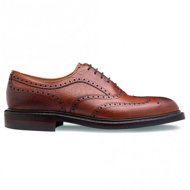 Cheaney Hythe II R Wingcap Oxford Brogue in Mahogany Grain Leather