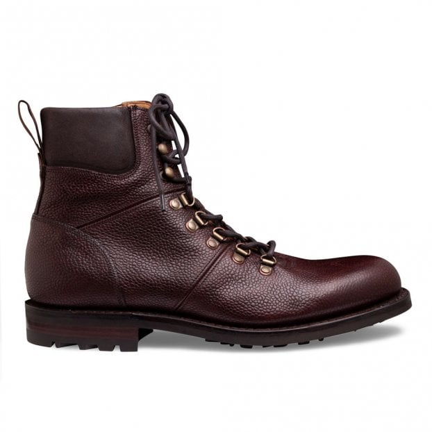 Cheaney Ingleborough B Hiker Boot in Burgundy Grain Leather