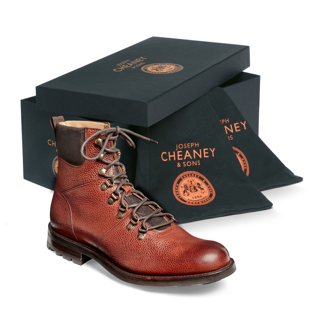 2e3a896743a Cheaney Ingleborough B Hiker Boot in Mahogany Grain Leather