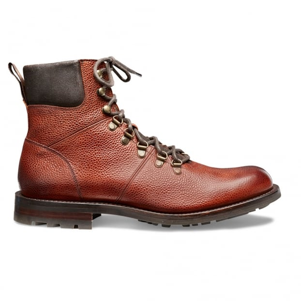 Cheaney Ingleborough B Hiker Boot in Mahogany Grain Leather