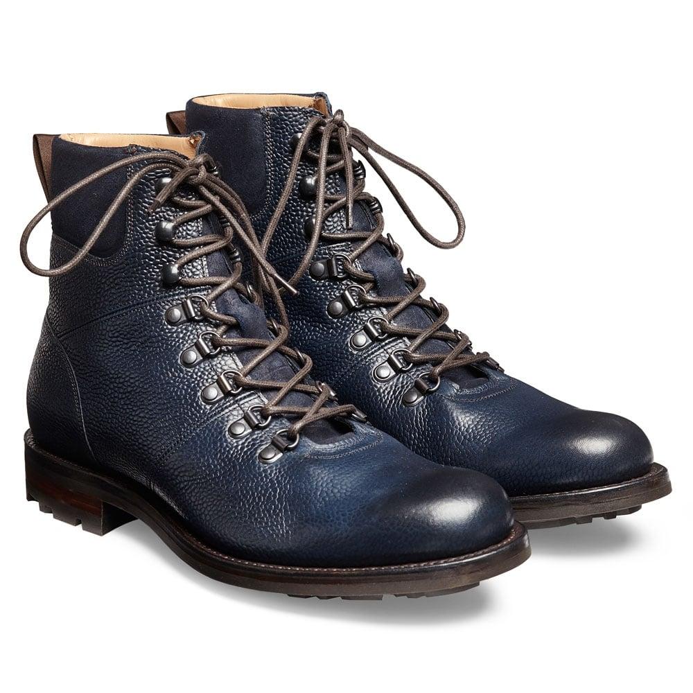 423c733d225 Cheaney Ingleborough B Hiker Boot in Navy Grain Leather