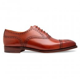 Islington Semi Brogue in Dark Leaf Leather