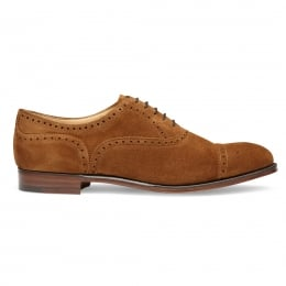 Islington Semi Brogue in Fox Suede