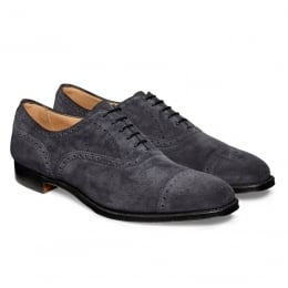 Islington Semi Brogue in Oceano Suede